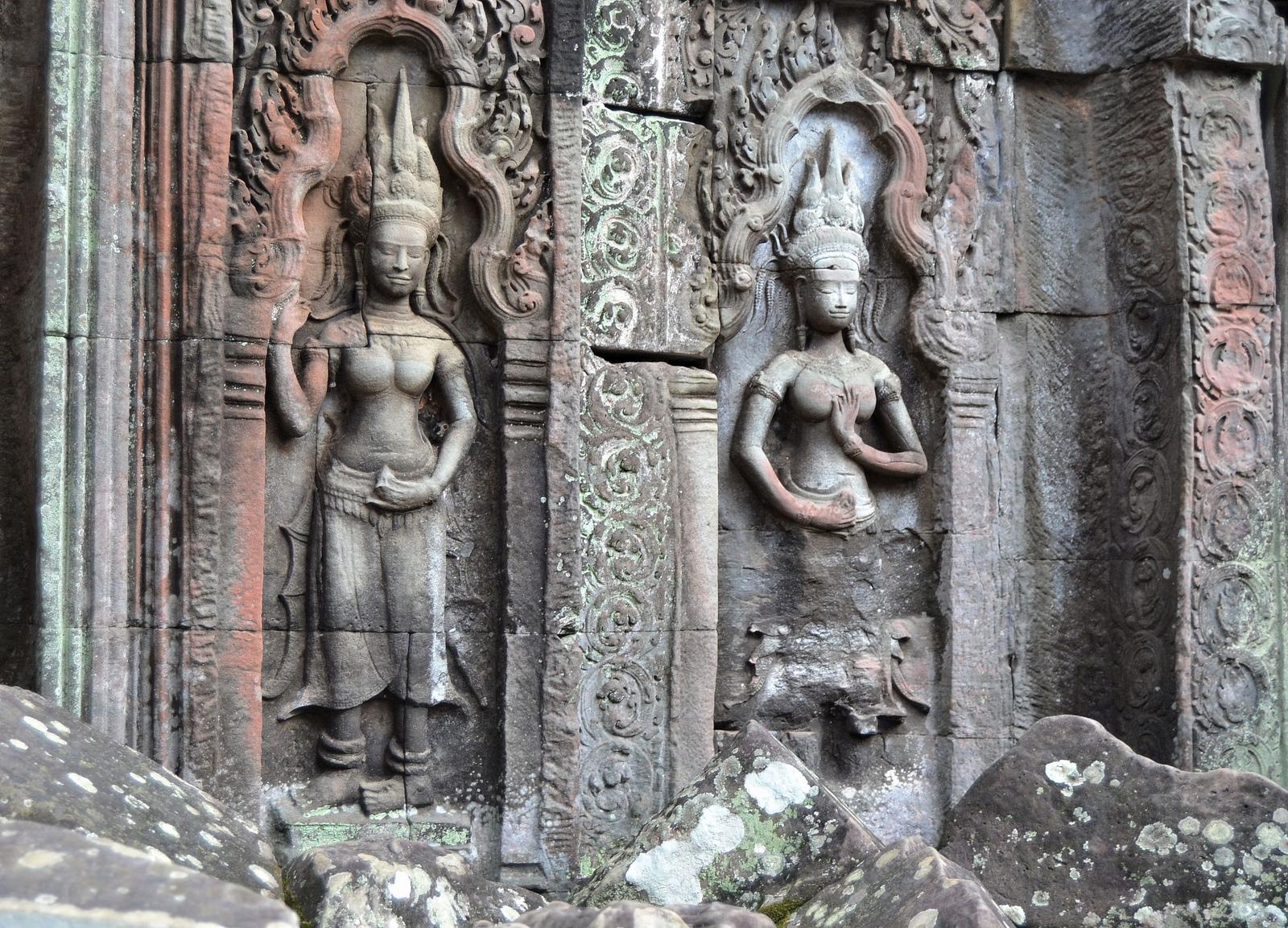 Bailarinas en el templo de Ta Prohm (Angkor Vat, Camboya)