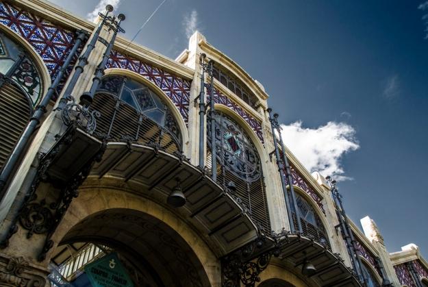Puerta del mercado de Valencia